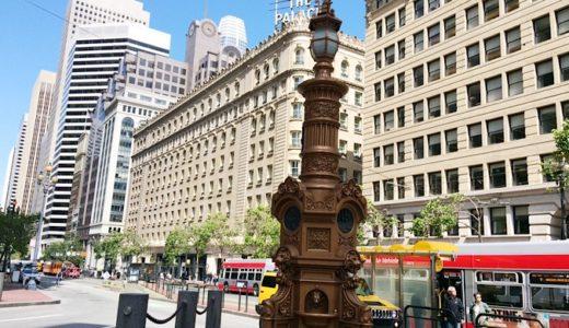 サンフランシスコのオフィス街にある吹きぬけのガラスドームショッピング&レストランモール Crocker Galleria